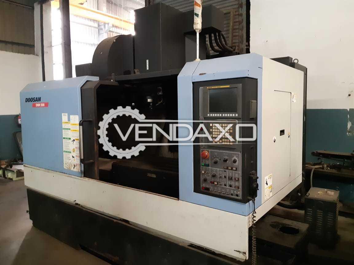 Doosan DNM-500 CNC Vertical Machining Center - VMC - Table Size : 1050 x 600 mm, Model 2010
