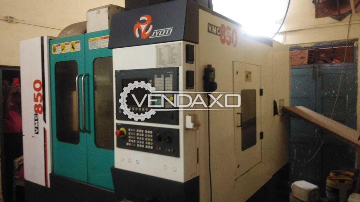 JYOTI VMC-850 CNC Vertical Machining Center - VMC - Table Size : 1000 x 500 mm, Model 2010