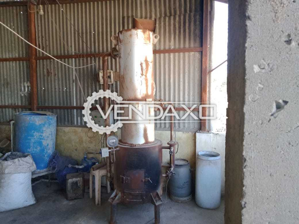 Used Small Boiler + Steam Heating Container - 100 Liter