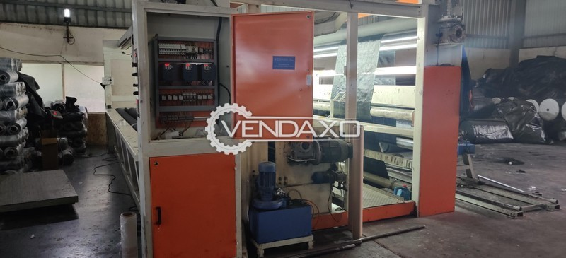 For sale used Re-Rolling Cum Stretch Packing-Universal Tensile Testing-Combined tensile tester-Flexographic Printing-Air Cooled compact heater Chiller-Offline gravimetric dosing Machine all were support machines for manufacturing woven sack bags