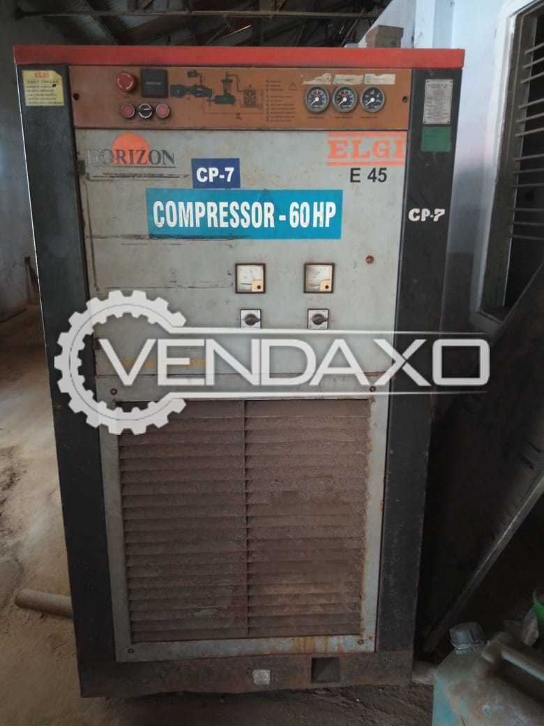Elgi Make Screw Compressor - Capacity : 60 HP