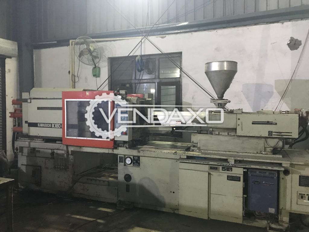 Kawaguchi K180-B Injection Moulding Machine - Capacity : 180 Ton