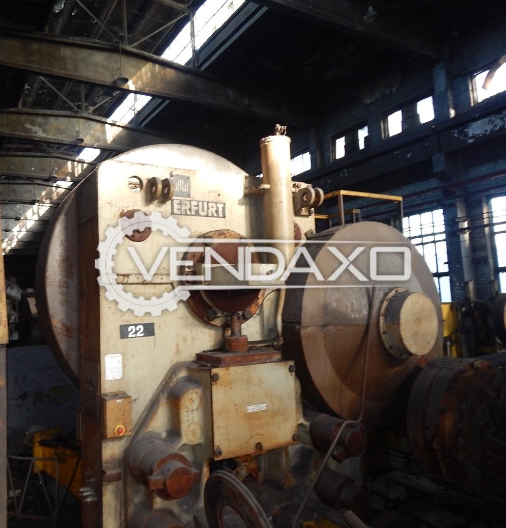 WMW Erfurt SCPK 1600 Billet Shearing Machine - Capacity : 1600 Ton