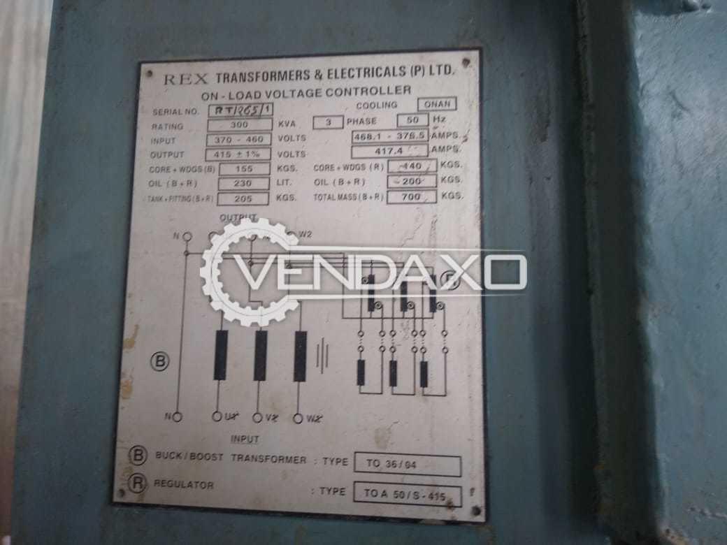 For Sale Used Rexel Make Servo Stabilizer - 300 Kva