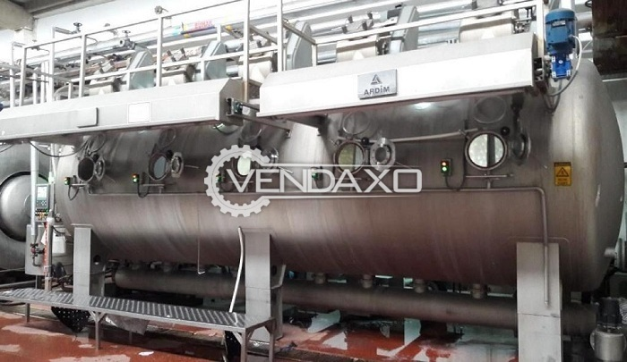 Ardim HT Fabric Dyeing Machine - 1200 KG, 2016 Model