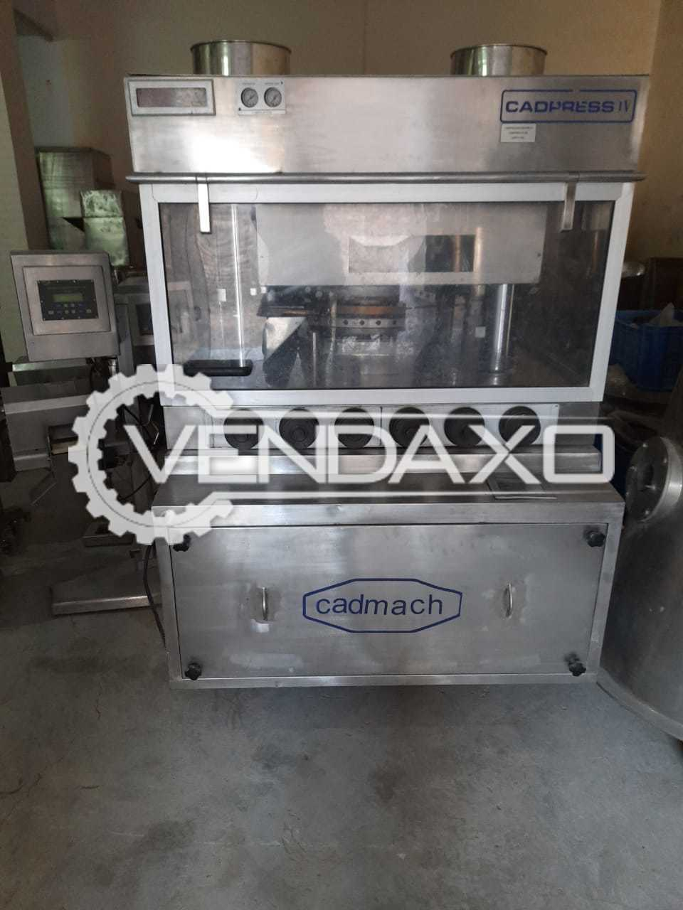 Cadmach Cadpress-II 45 Tablet Press Machine - 45 Station