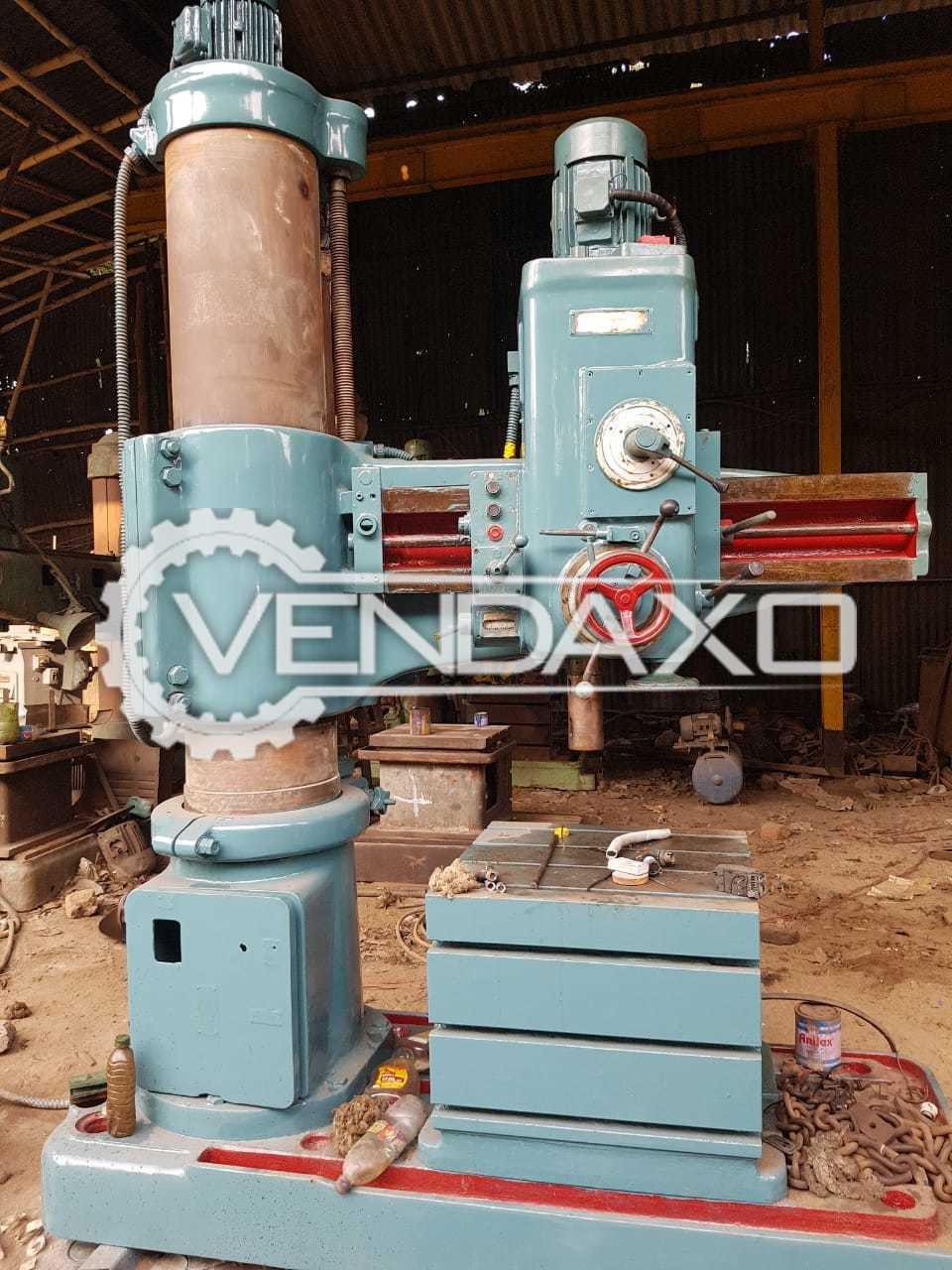 Indian Make Radial Drill Machine - Drilling Capacity : 62 mm