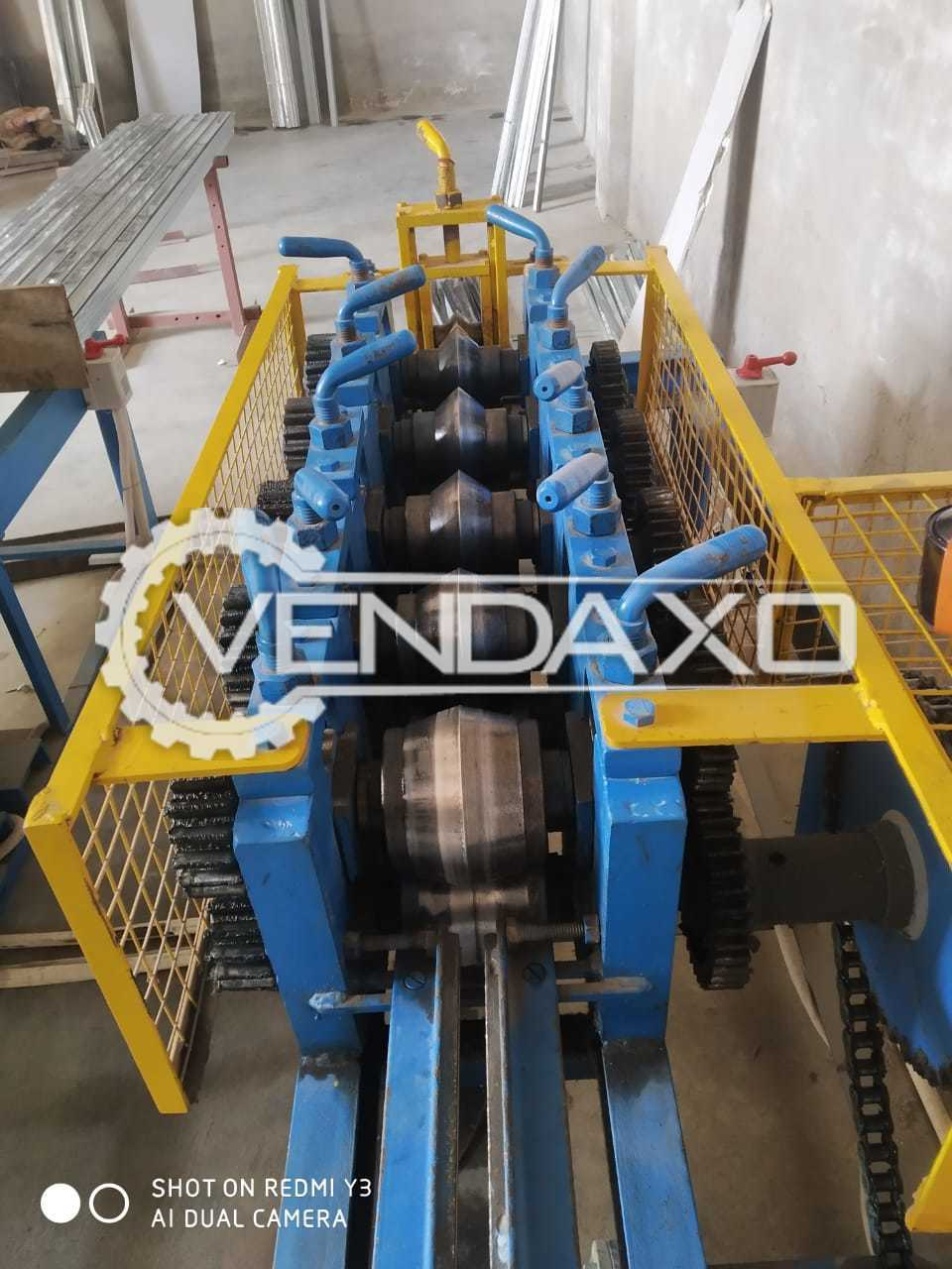 For Sale Used P.O.P Angle Making Machine With 5 Stage Dia Steel Roll Forming