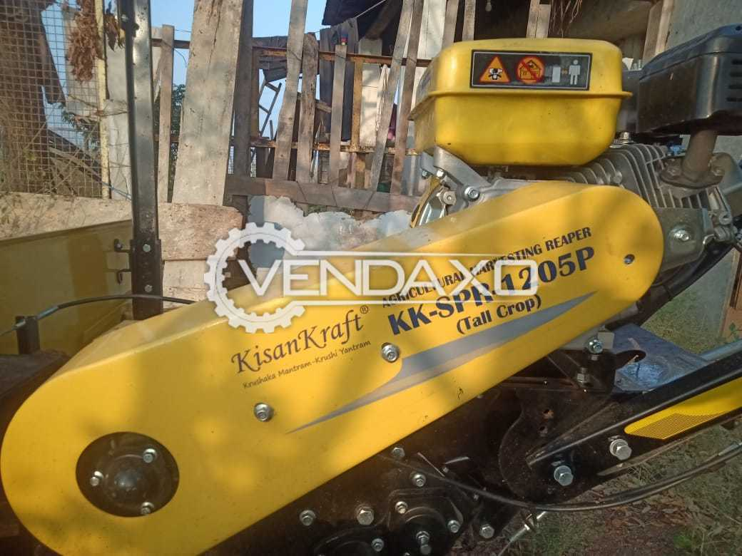 Kisankraft KK-SPR-1201P Paddy Harvester Machine - 5.6 HP, 4 Stroke