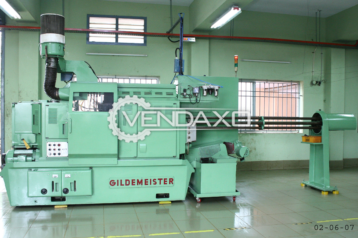 Gildemeister AS16 Automatic Lathe Machine - Width - 4 Feet, 6 Spindle
