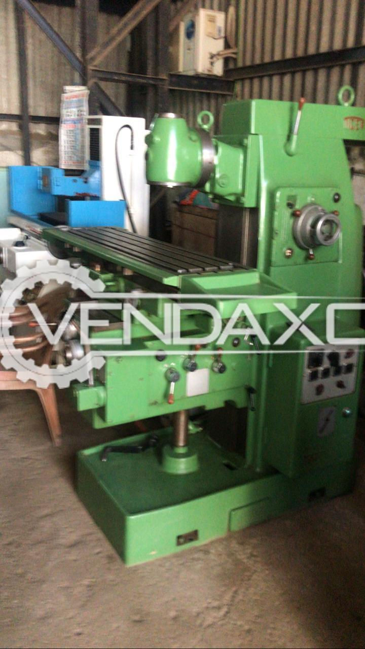 Indian Make Universal Milling Machine - Table Size : 1200 x 300 mm