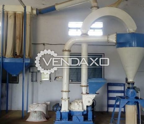 For Sale Used Flour Mill Machinery Setup - 2 Ton