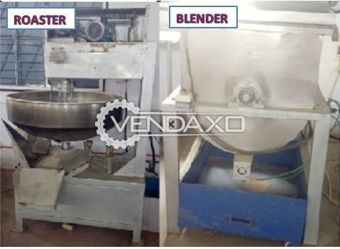 Available For Sale Used Roaster & Blender Machine