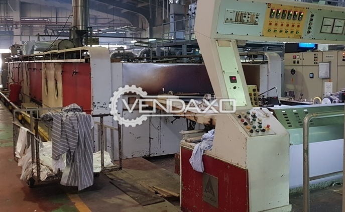 Artos Babcock Stenter Machine - Width - 1.80 Meter, 1990 Model