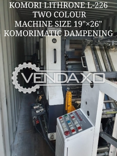 Komori Lithrone 226 Offset Printing Machine - 19 X 26 Inch, 2 Color