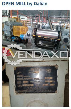 2 Set OF Dalian Make Open Mill Rubber Machine - 1500 x 550 mm