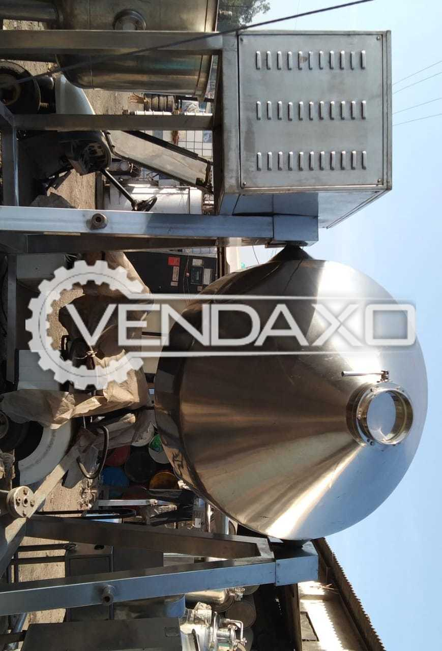 SS 316L GMP Double Cone Blender With Gearbox And Flip Motor - Capacity : 2 MT