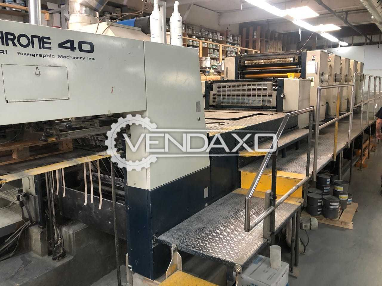 Komori Lithrone 540 Offset Printing Machine - 28 x 40 Inch, 5 Color