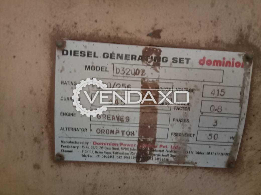 Greaves Diesel Generator - 320 Kva