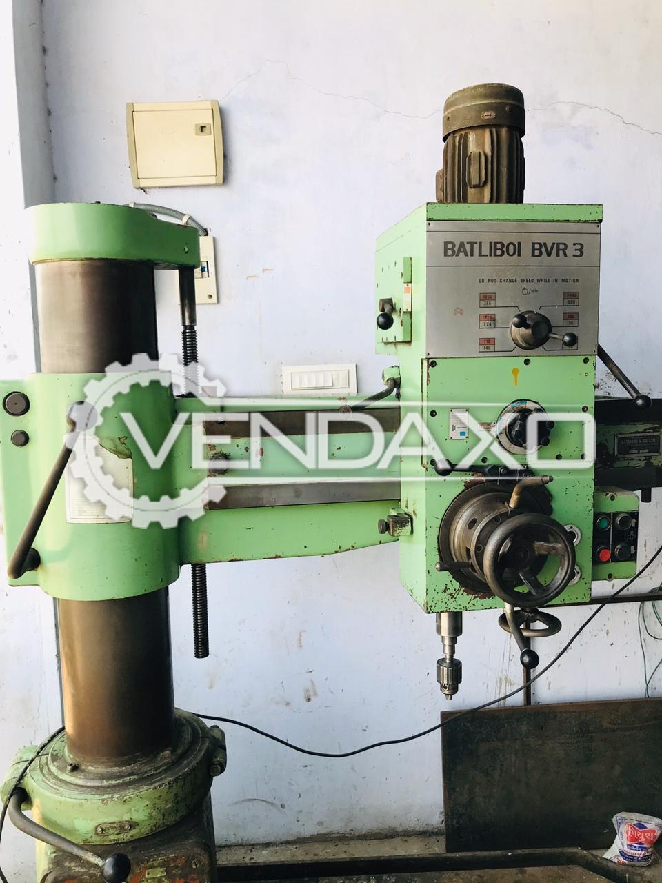 Batliboi BVR-3 Radial Drill Machine - 32 to 35 mm